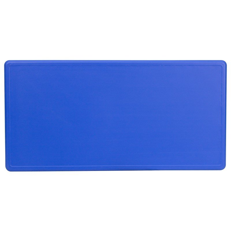 Flash Furniture 24''W x 48''L Height Adjustable Rectangular Blue Plastic Activity Table
