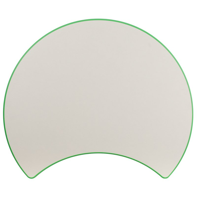 "Flash Furniture 25.125""W x 35.5""L Cutout Circle Green Plastic Height Adjustable Activity Table with Grey Top (YU-YCY-093-CIR-TBL-GREEN-GG)"