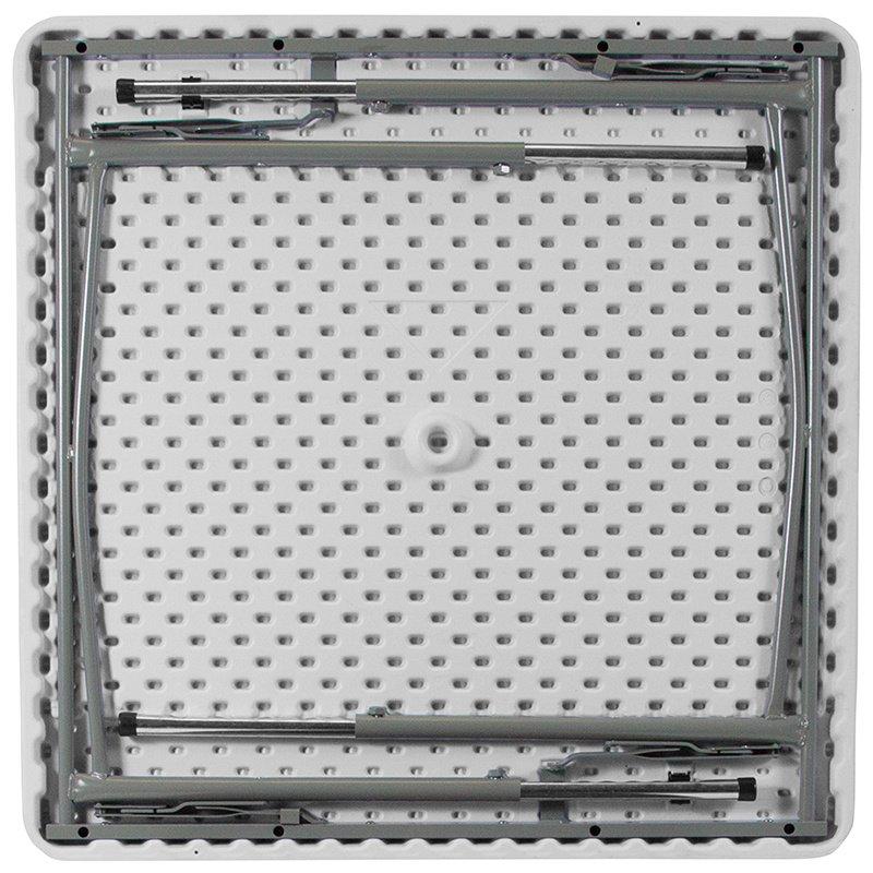 "Flash Furniture 34"" Square Height Adjustable Granite White Plastic Folding Table (RB-3434ADJ-GG)"