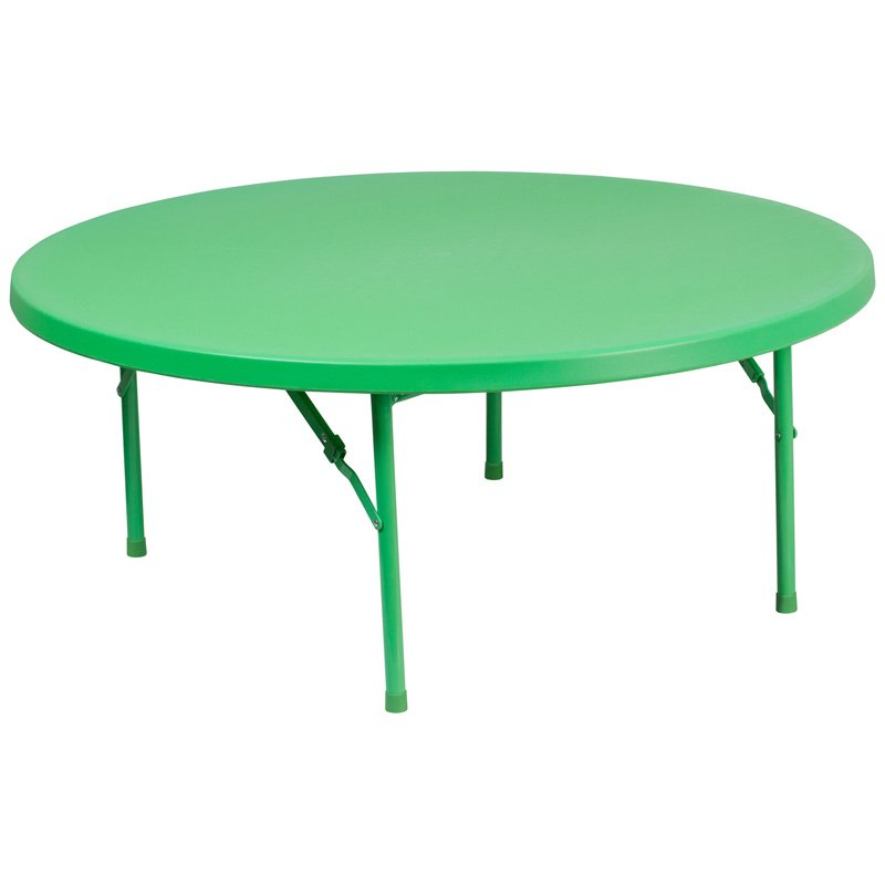 """Flash Furniture 48"""" Round Kid's Green Plastic Folding Table (RB-48R-KID-GN-GG)"""