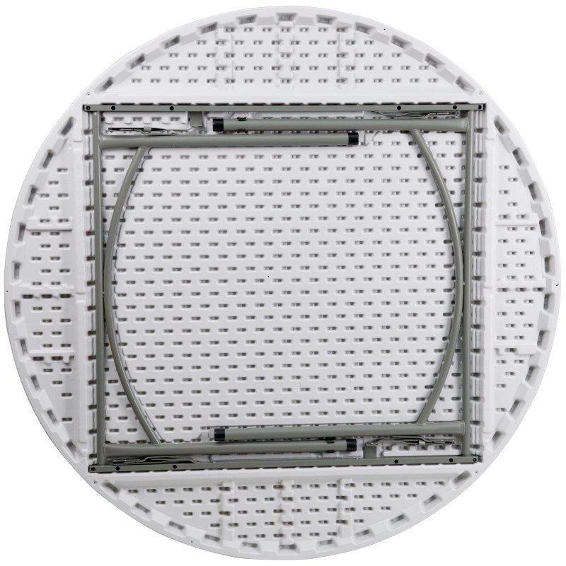 Flash Furniture 60'' Round Granite-White Plastic Folding Table