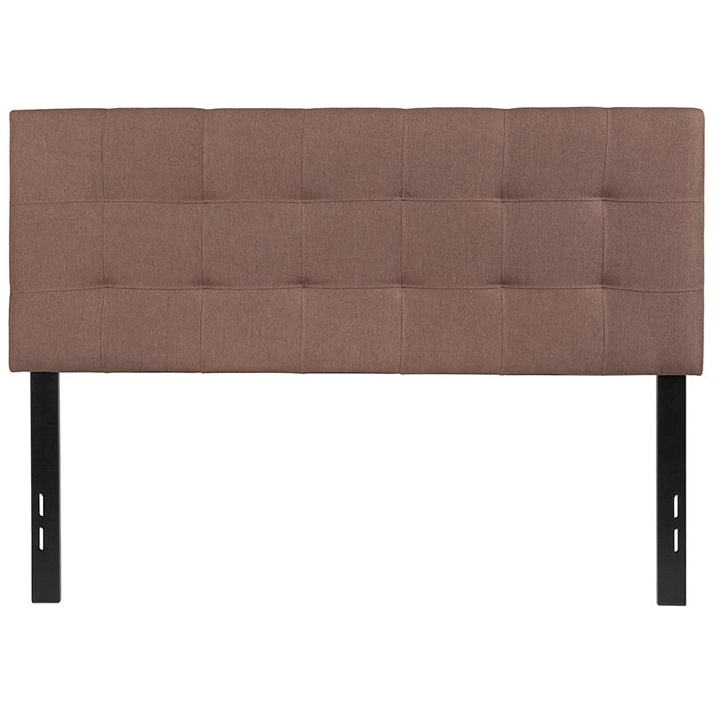 Flash Furniture Bedford Tufted Upholstered Full Size Headboard in Camel Fabric (HG-HB1704-F-C-GG)