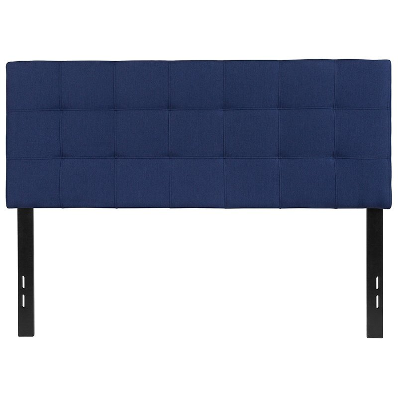 Flash Furniture Bedford Tufted Upholstered Full Size Headboard in Navy Fabric (HG-HB1704-F-N-GG)
