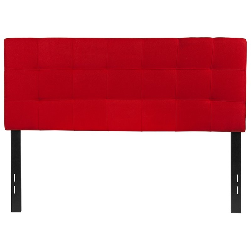 Flash Furniture Bedford Tufted Upholstered Full Size Headboard in Red Fabric (HG-HB1704-F-R-GG)