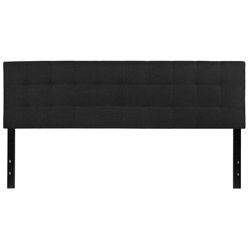 Flash Furniture Bedford Tufted Upholstered King Size Headboard in Black Fabric (HG-HB1704-K-BK-GG)