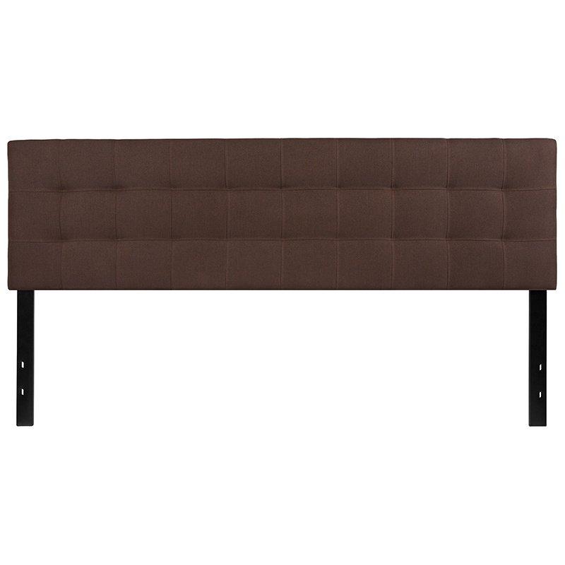 Flash Furniture Bedford Tufted Upholstered King Size Headboard in Dark Brown Fabric (HG-HB1704-K-DBR-GG)