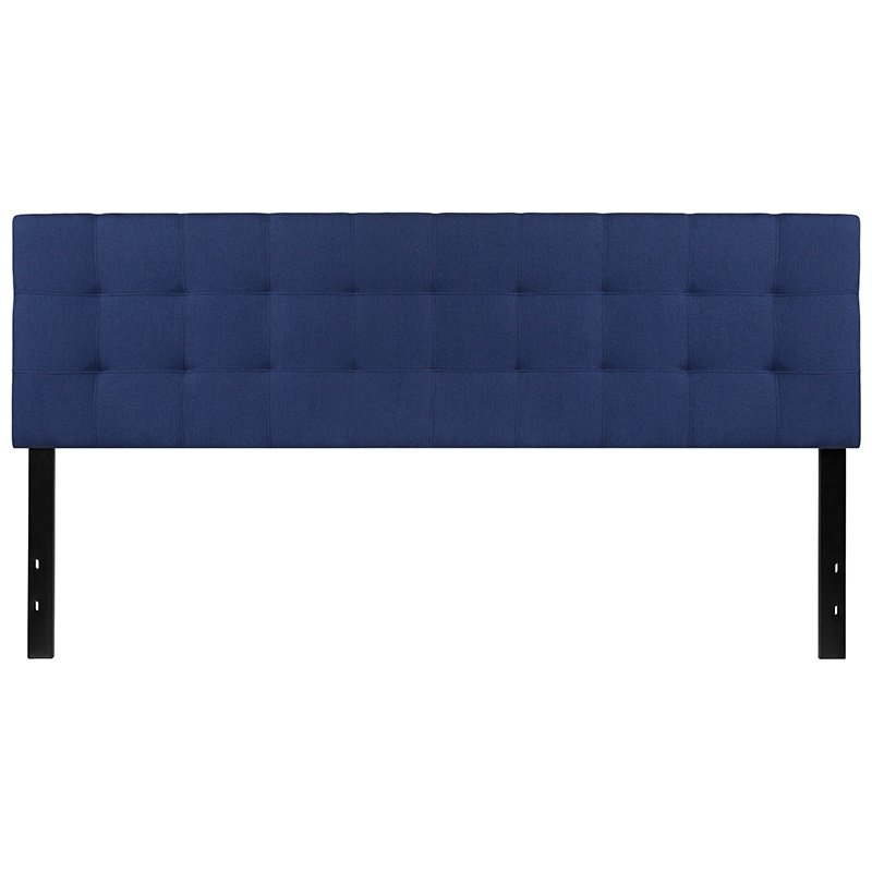 Flash Furniture Bedford Tufted Upholstered King Size Headboard in Navy Fabric (HG-HB1704-K-N-GG)