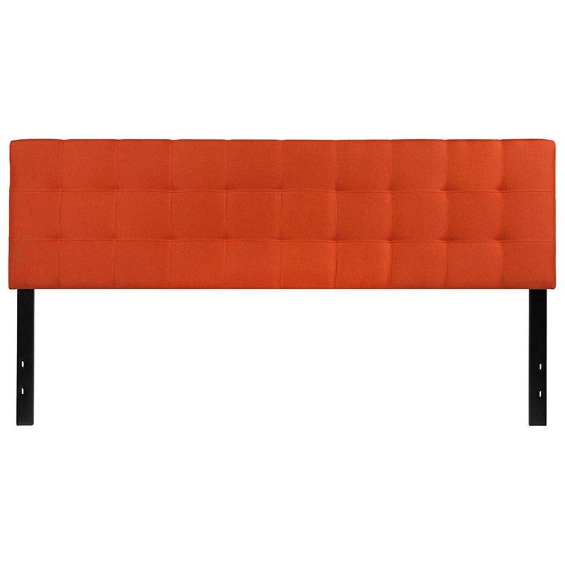 Flash Furniture Bedford Tufted Upholstered King Size Headboard in Orange Fabric (HG-HB1704-K-O-GG)