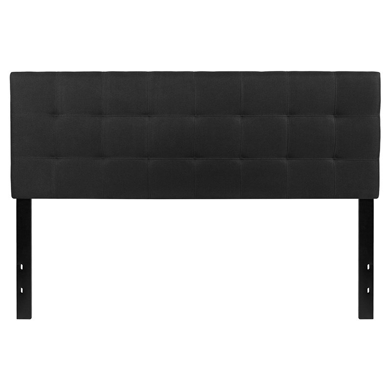 Flash Furniture Bedford Tufted Upholstered Queen Size Headboard in Black Fabric (HG-HB1704-Q-BK-GG)