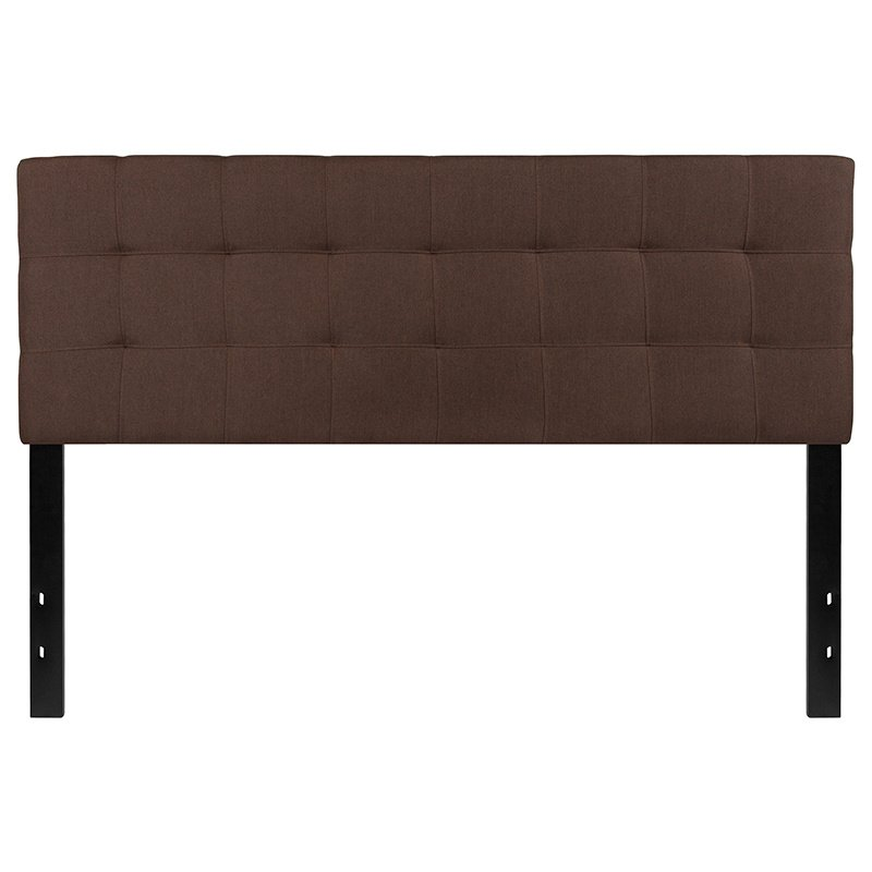 Flash Furniture Bedford Tufted Upholstered Queen Size Headboard in Dark Brown Fabric (HG-HB1704-Q-DBR-GG)