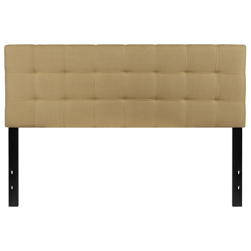 Flash Furniture Bedford Tufted Upholstered Queen Size Headboard in Green Fabric (HG-HB1704-Q-G-GG)