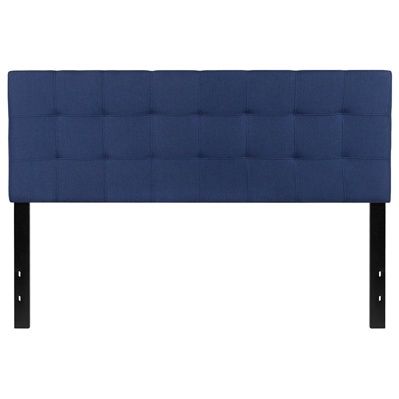 Flash Furniture Bedford Tufted Upholstered Queen Size Headboard in Navy Fabric (HG-HB1704-Q-N-GG)