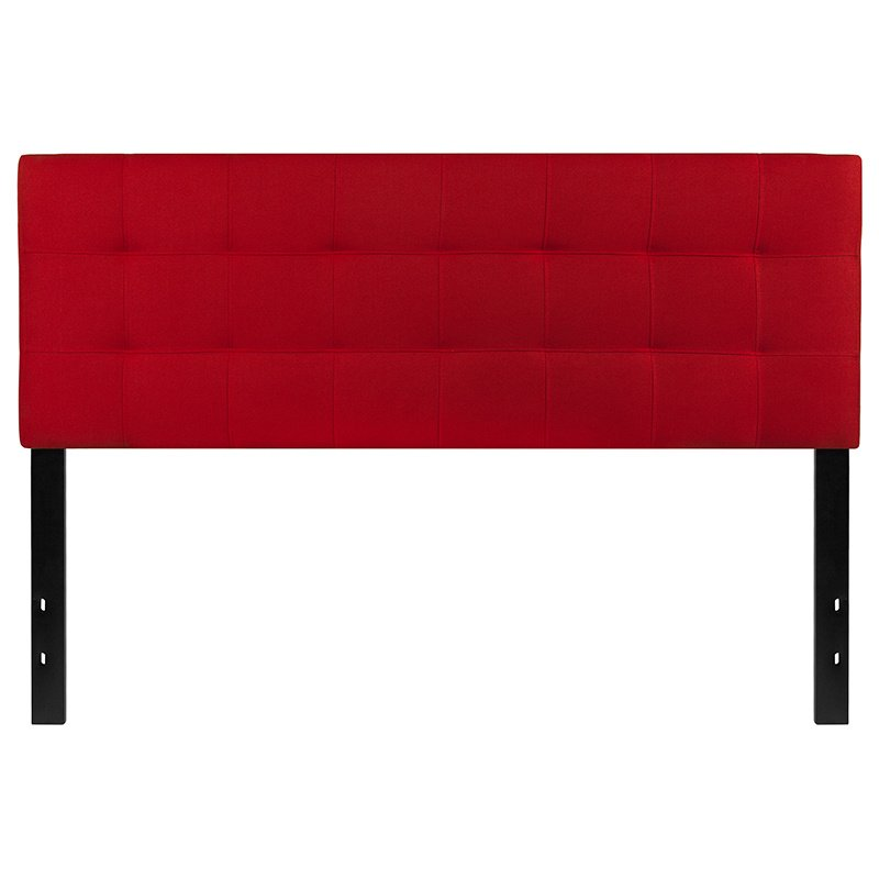 Flash Furniture Bedford Tufted Upholstered Queen Size Headboard in Red Fabric (HG-HB1704-Q-R-GG)