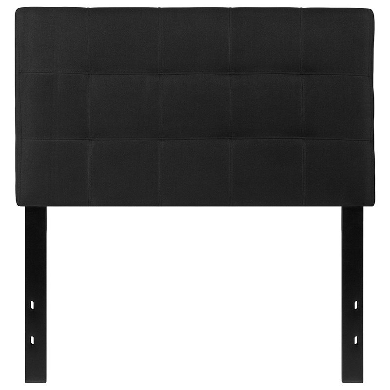 Flash Furniture Bedford Tufted Upholstered Twin Size Headboard in Black Fabric (HG-HB1704-T-BK-GG)