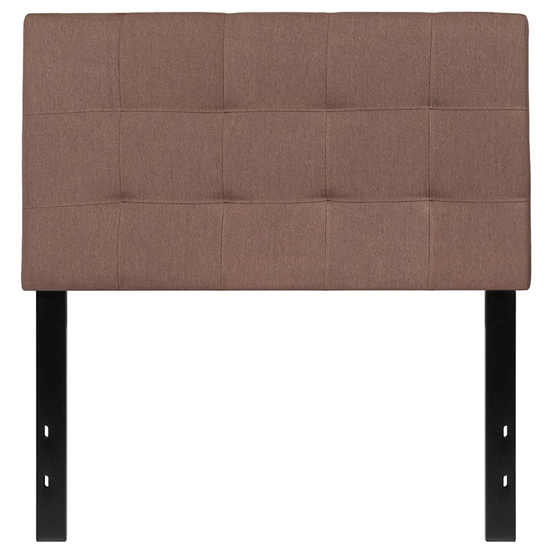 Flash Furniture Bedford Tufted Upholstered Twin Size Headboard in Camel Fabric (HG-HB1704-T-C-GG)
