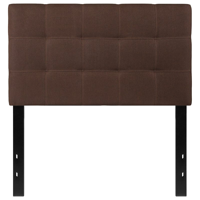 Flash Furniture Bedford Tufted Upholstered Twin Size Headboard in Dark Brown Fabric (HG-HB1704-T-DBR-GG)