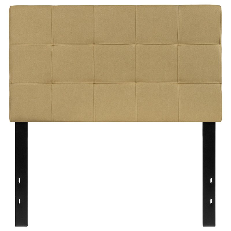 Flash Furniture Bedford Tufted Upholstered Twin Size Headboard in Green Fabric (HG-HB1704-T-G-GG)