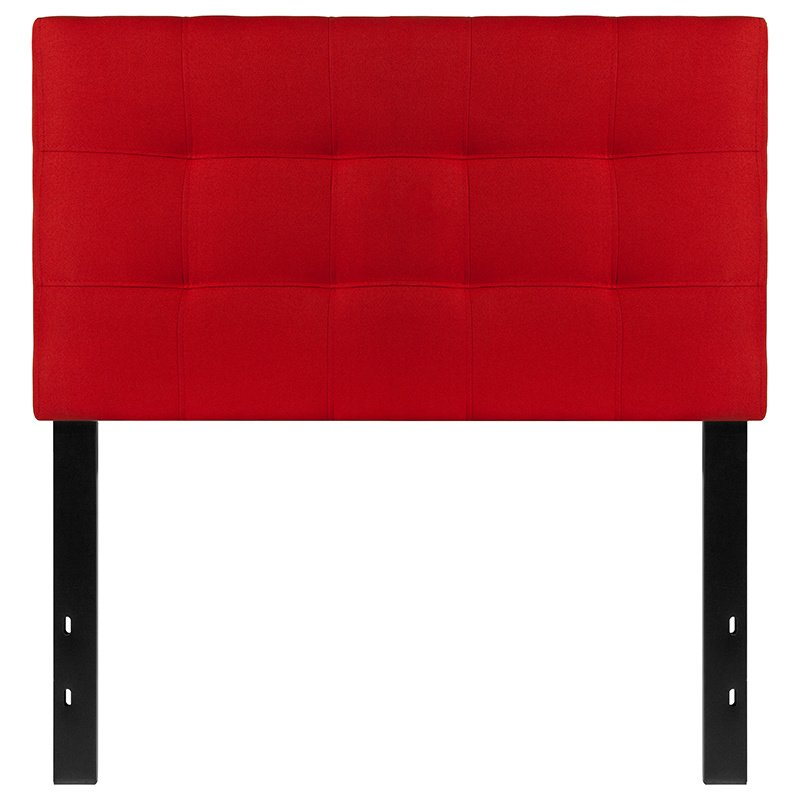 Flash Furniture Bedford Tufted Upholstered Twin Size Headboard in Red Fabric (HG-HB1704-T-R-GG)