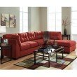Flash Furniture Benchcraft Maier Sectional with Right Side Facing Chaise in Sienna Microfiber