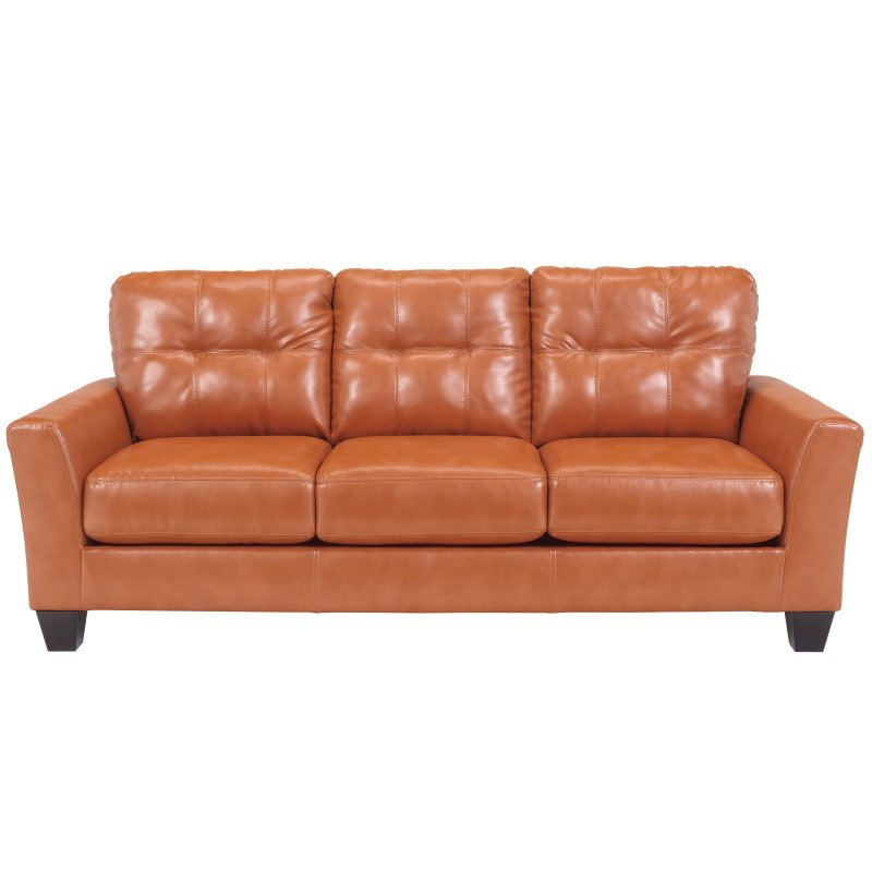 Flash Furniture Benchcraft Paulie Sofa in Orange DuraBlend