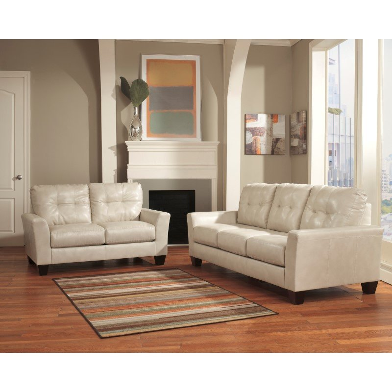 Flash Furniture Benchcraft Paulie Sofa in Taupe DuraBlend