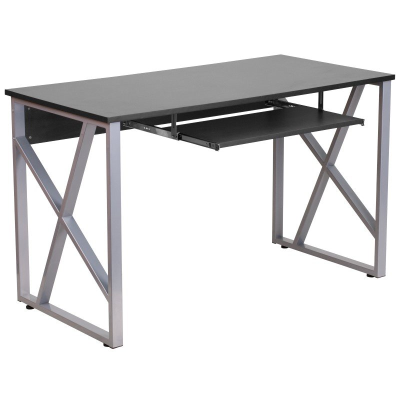 Flash Furniture Black Computer Desk with Pull-Out Keyboard Tray
