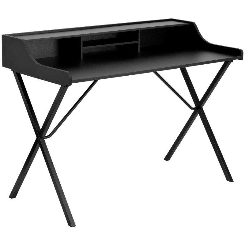 Flash Furniture Black Computer Desk with Top Shelf
