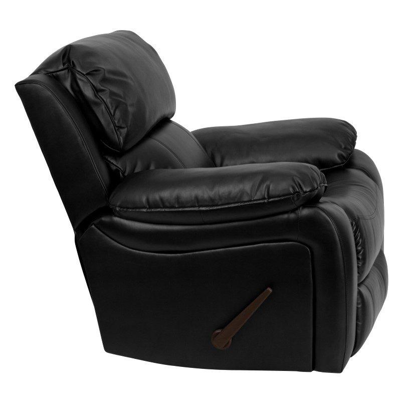 Flash Furniture Black Leather Rocker Recliner