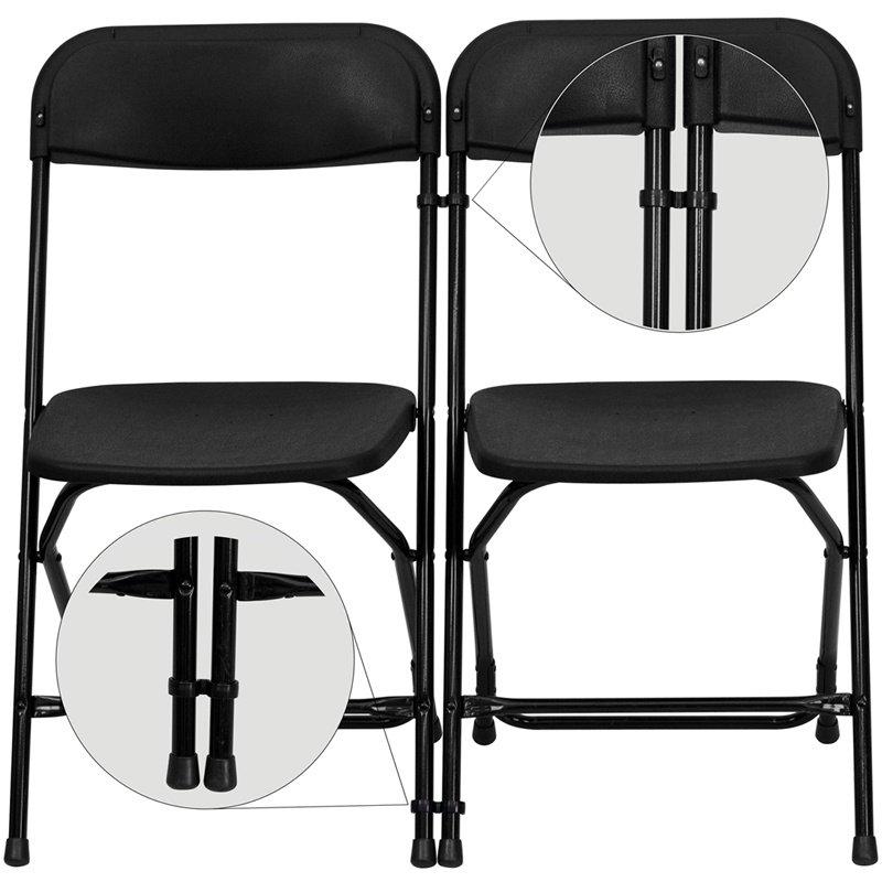 Flash Furniture Black Plastic Ganging Clips - Set of 2 (LE-3-BK-GANG-GG)