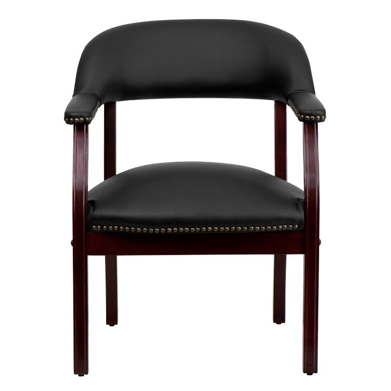 Flash Furniture Black Top Grain Leather Conference Chair