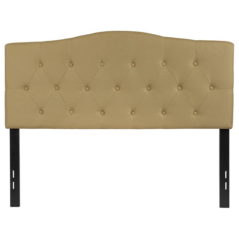 Flash Furniture Cambridge Tufted Upholstered Full Size Headboard in Green Fabric (HG-HB1708-F-G-GG)