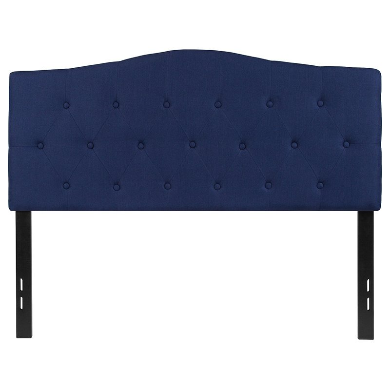 Flash Furniture Cambridge Tufted Upholstered Full Size Headboard in Navy Fabric (HG-HB1708-F-N-GG)