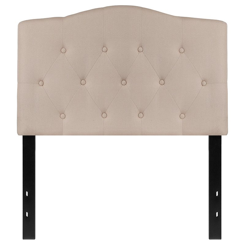 Flash Furniture Cambridge Tufted Upholstered Twin Size Headboard in Beige Fabric (HG-HB1708-T-B-GG)