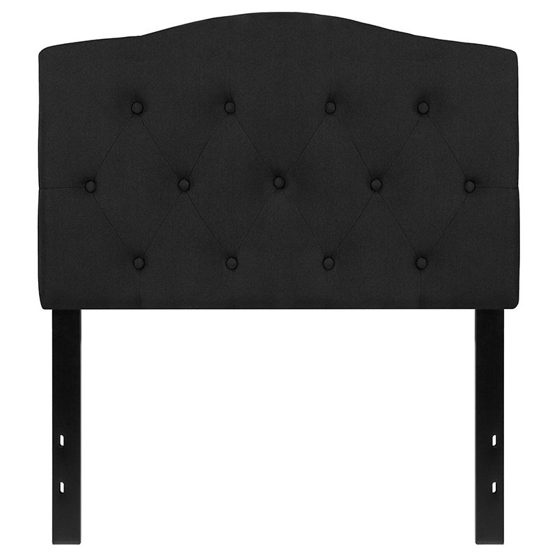 Flash Furniture Cambridge Tufted Upholstered Twin Size Headboard in Black Fabric (HG-HB1708-T-BK-GG)