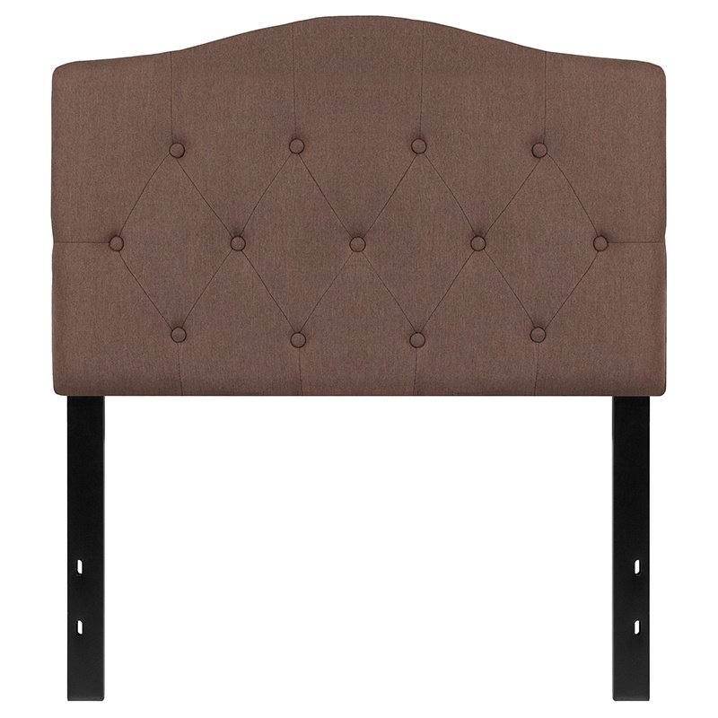 Flash Furniture Cambridge Tufted Upholstered Twin Size Headboard in Camel Fabric (HG-HB1708-T-C-GG)