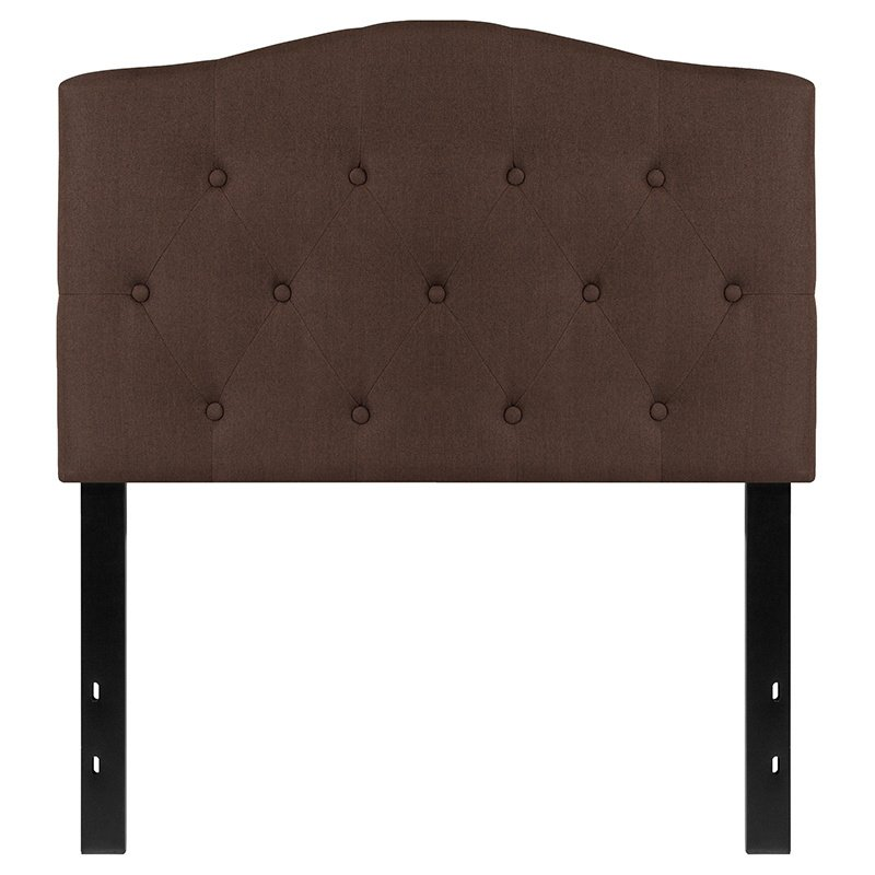 Flash Furniture Cambridge Tufted Upholstered Twin Size Headboard in Dark Brown Fabric (HG-HB1708-T-DBR-GG)