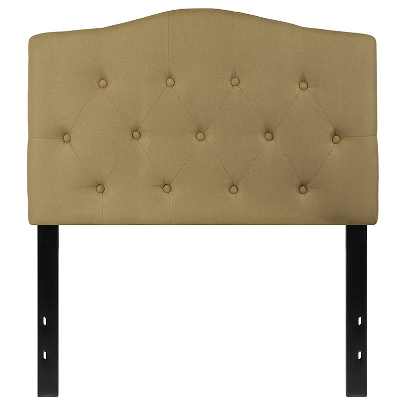 Flash Furniture Cambridge Tufted Upholstered Twin Size Headboard in Green Fabric (HG-HB1708-T-G-GG)
