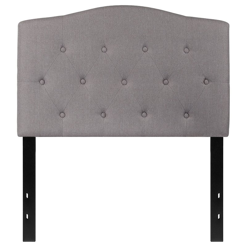 Flash Furniture Cambridge Tufted Upholstered Twin Size Headboard in Light Gray Fabric (HG-HB1708-T-LG-GG)