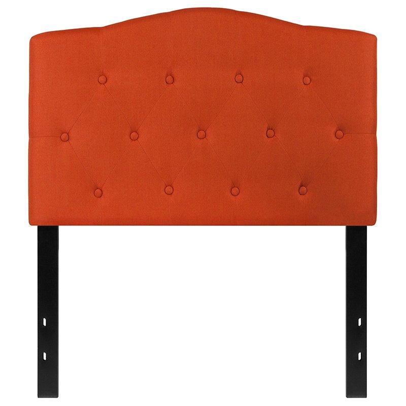 Flash Furniture Cambridge Tufted Upholstered Twin Size Headboard in Orange Fabric (HG-HB1708-T-O-GG)