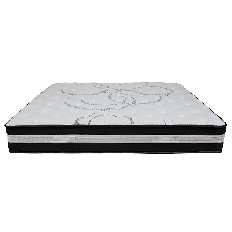 Flash Furniture Capri Comfortable Sleep 12 Inch Foam and Pocket Spring Mattress - King in a Box (CL-E230P-R-K-GG)