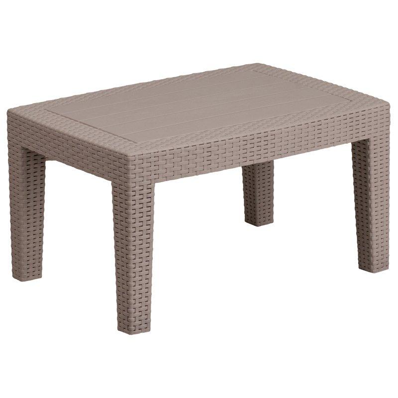 Flash Furniture Charcoal Faux Rattan Coffee Table (DAD-SF2-T-GG)