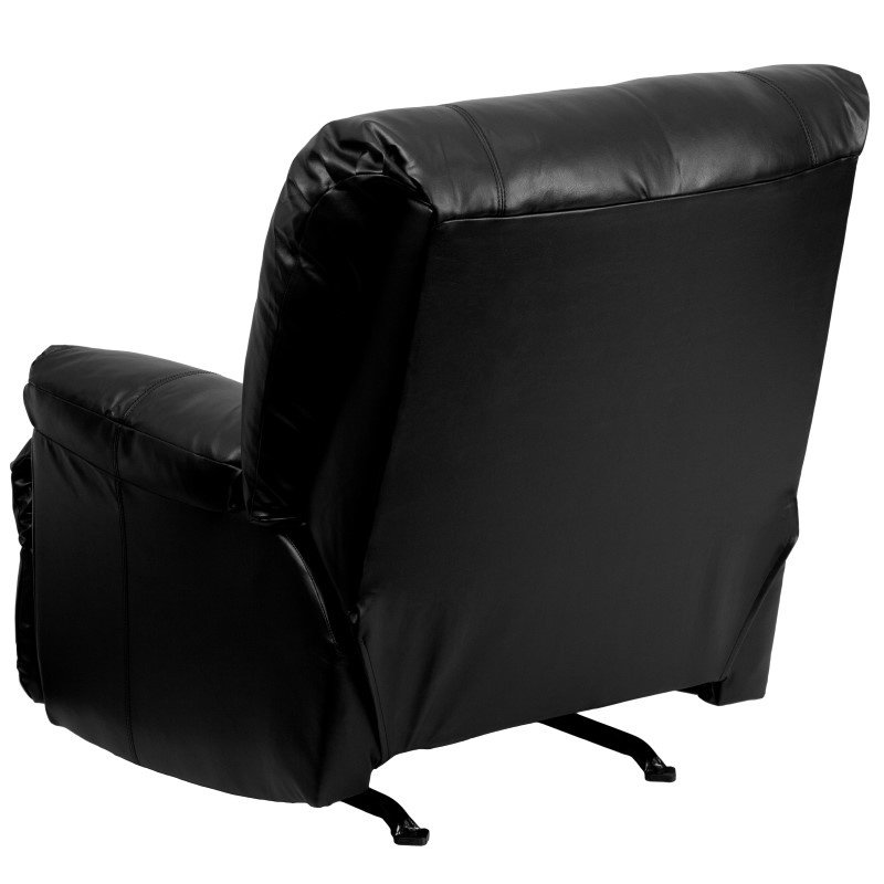 Flash Furniture Contemporary Apache Black Leather Rocker Recliner