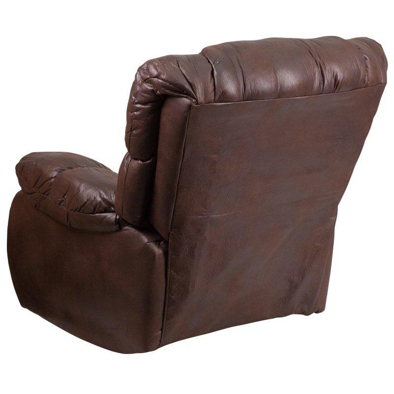 Flash Furniture Contemporary' Breathable Comfort Padre Espresso Fabric Rocker Recliner