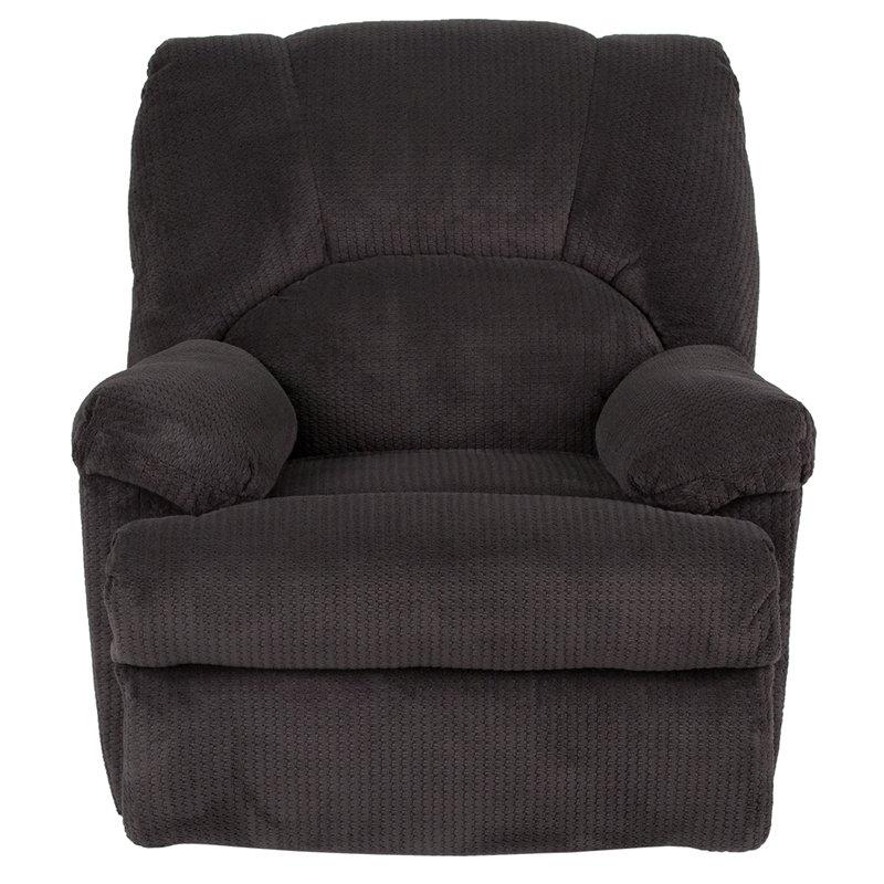 Flash Furniture Contemporary Feel Good Slate Microfiber Rocker Recliner (WA-8500-270-GG)