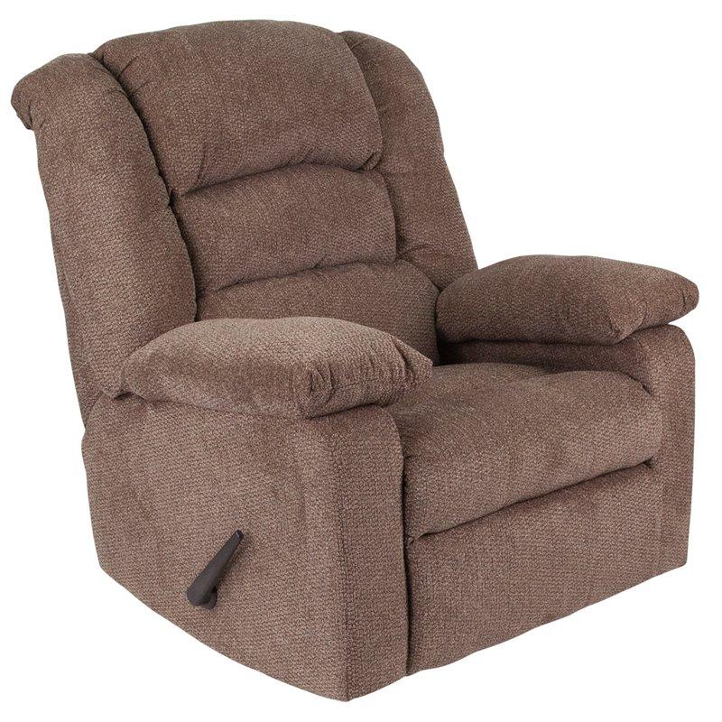 Flash Furniture Contemporary Super Soft Jesse Cocoa Chenille Rocker Recliner (WA-8810-498-GG)