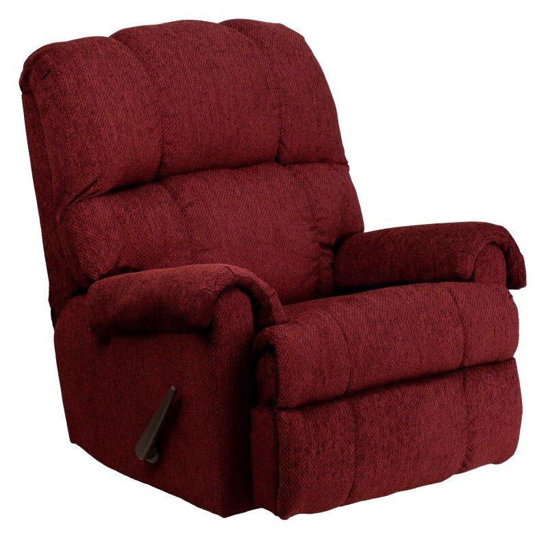 Flash Furniture Contemporary Tahoe Burgundy Chenille Rocker Recliner