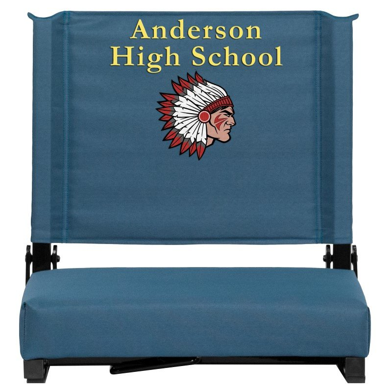 Flash Furniture Embroidered Game Day Seats by Flash with Ultra-Padded Seat in Green