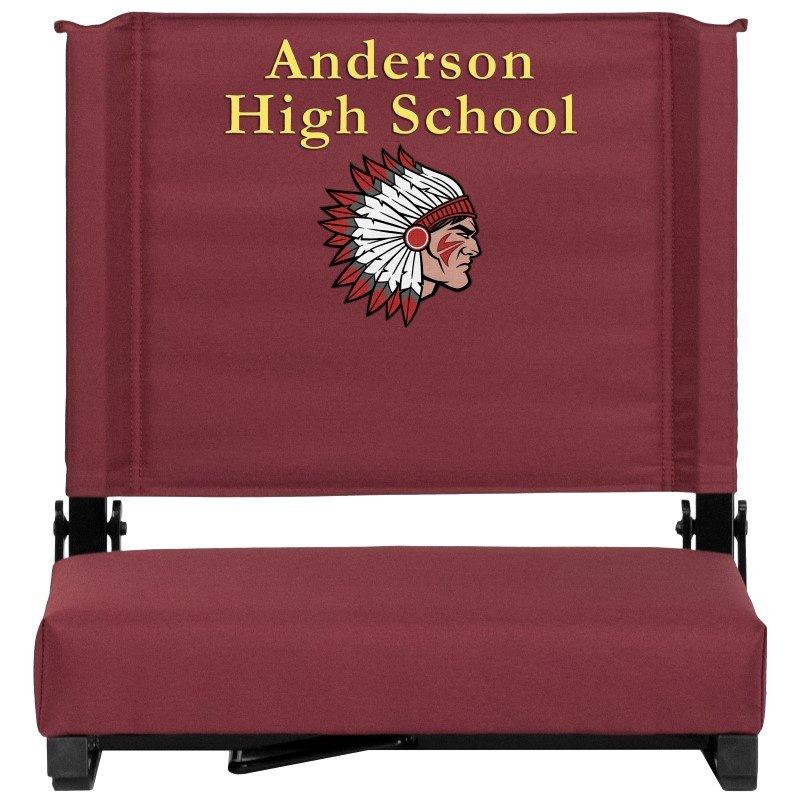 Flash Furniture Embroidered Game Day Seats by Flash with Ultra-Padded Seat in Maroon