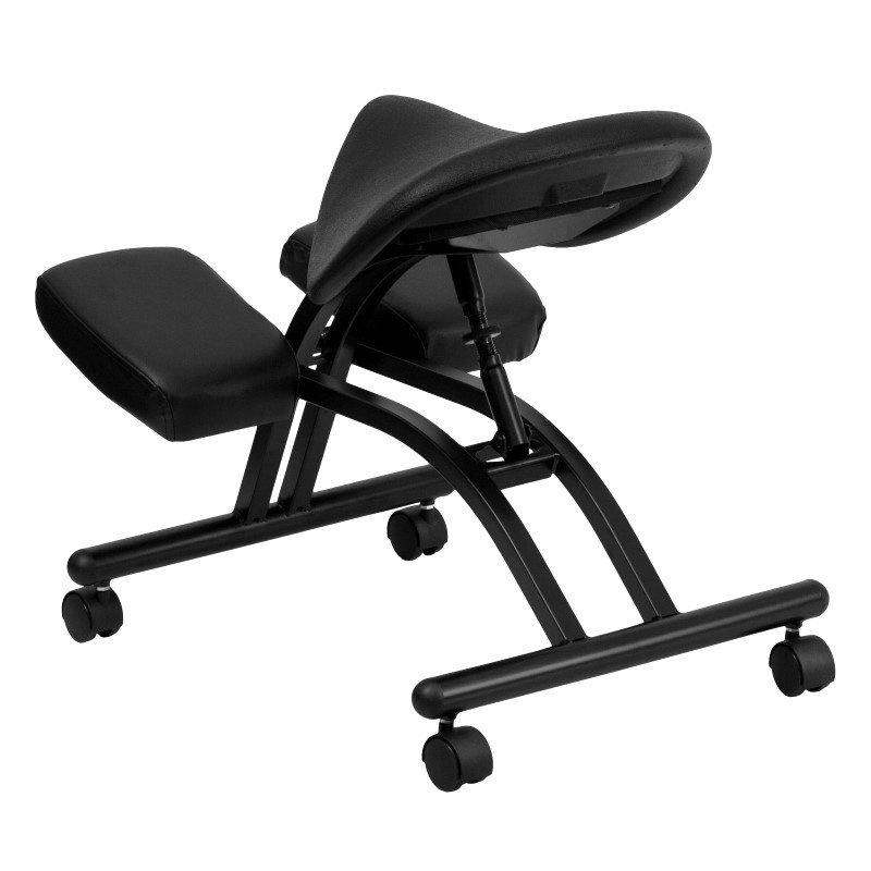 Flash Furniture Ergonomic Kneeling Chair with Black Saddle Seat