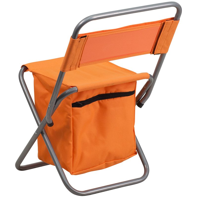 Flash Furniture Folding Camping Chair with Insulated Storage in Orange (TY1262-OR-GG)
